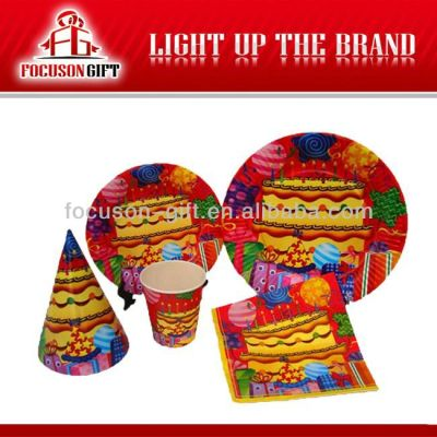 Colorful Events Party set paper plate party sets