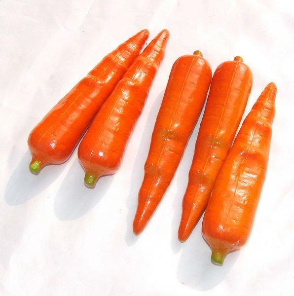 Artificial Carrot Fruit Vegetable Plastic Toys