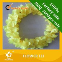 Wholesale promotional Plastic Flower Garland Hawaii Lei