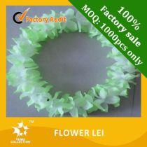 Fluffy plastic lei,hawaiian flower lei