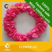 Plastic hawaiian flower lei garland