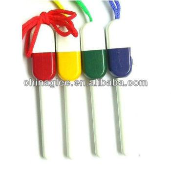 pills pen with lanyard plastic ball pen