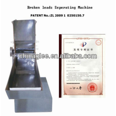 Patent product broken leads seperating machine