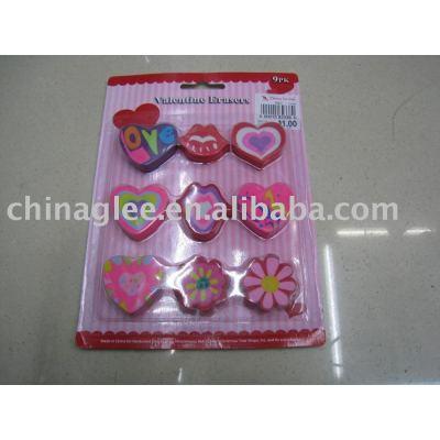valentine erasers