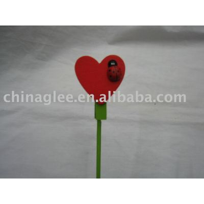 heart shaped name card clip