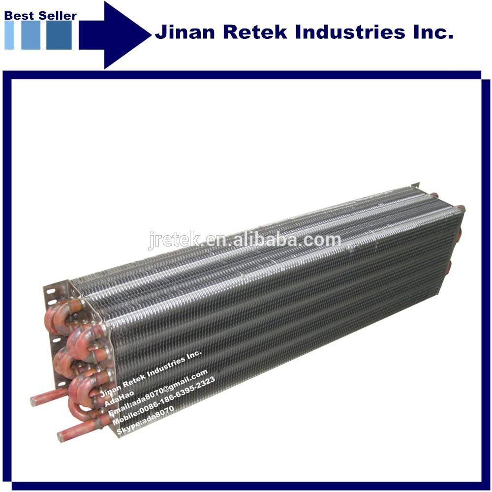 Air Condenser Coil : Heat exchange mm copper tube air cooled condenser coil