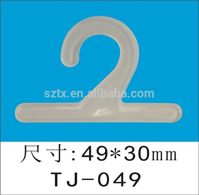 white and black small plastic hangers for garment packaging