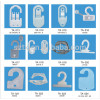 custom 33mm to 63mm plastic clothing hooks for packaging