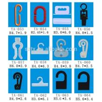 30mm to 60mm small plastic hangers hooks for packaging
