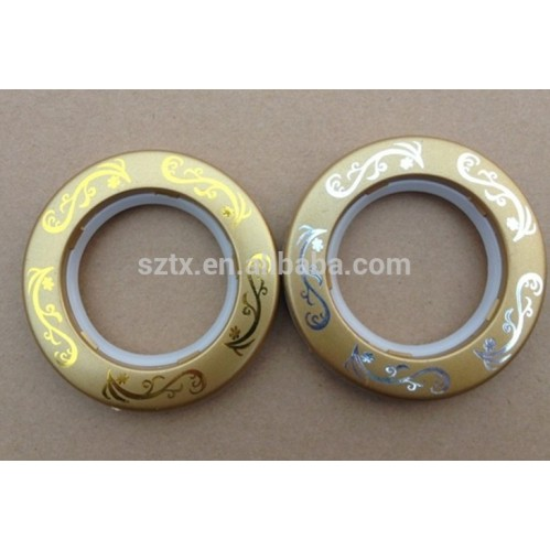70mm matt gold curtain plastic rings with fold gold