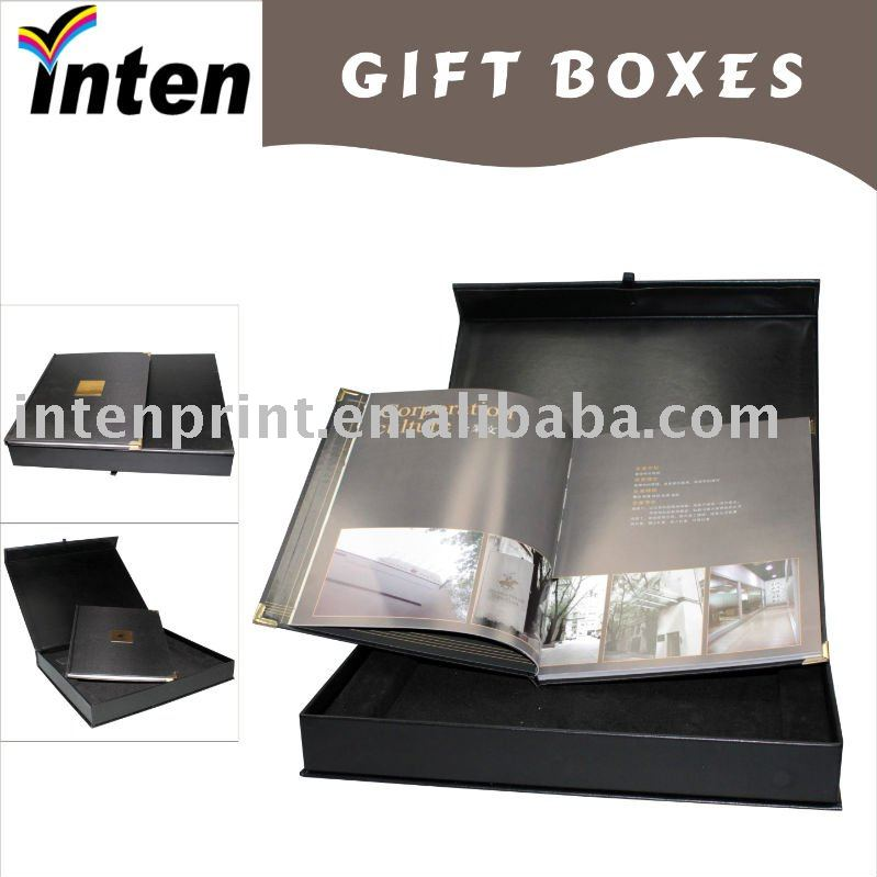 book style large gift box with magnet