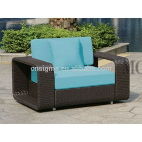 2014 Hot Sale Outdoor Garden Rattan modern design PE rattan garden sofa