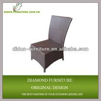 Outdoor rattan armless chair