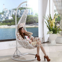HB-F001 Resin Swing Chair with Cushion