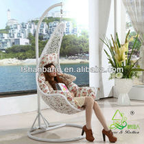 Promotional All Weather White Rattan Patio Hanging Swing Chairs
