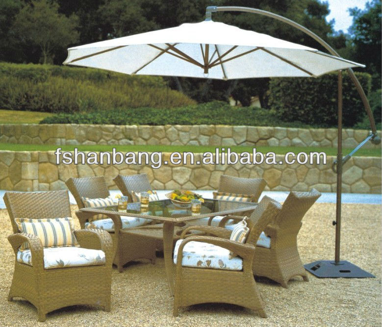 Open Air Poolside Tropical Casual Restaurant and Cafe Furniture Set