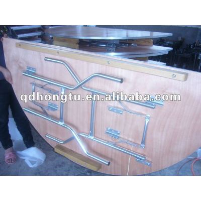 wooden banquet folding table