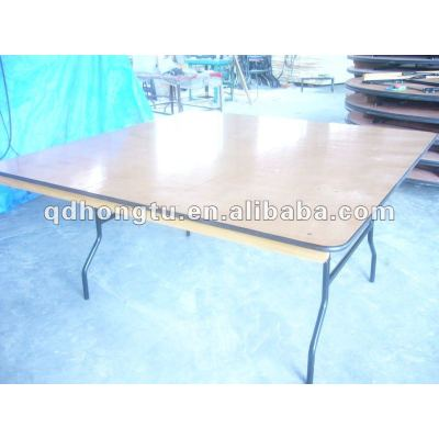 wood wedding banquet folding table