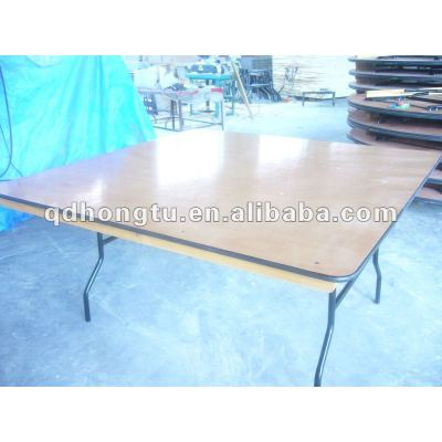 decorated wood wedding banquet folding table