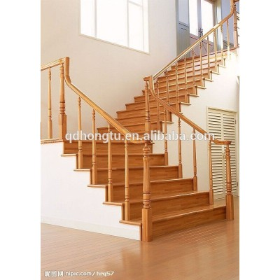 beauty wood stair handrail