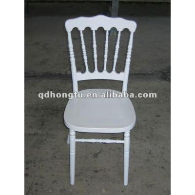 white wood wedding chair
