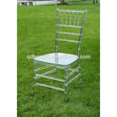 clear resin tiffany chair for event