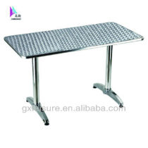 GXT-030 Aluminum square bar outdoor s/s top dining unfolding table