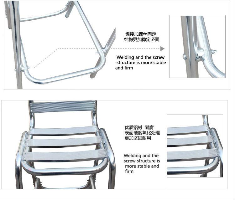 stainless steel table high aluminum welding bar chair