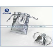 silver color pouch for jewelry