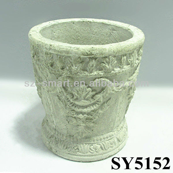 White finished paper mache flower potchina paper mache flower pots white finished paper mache flower pot mightylinksfo Image collections