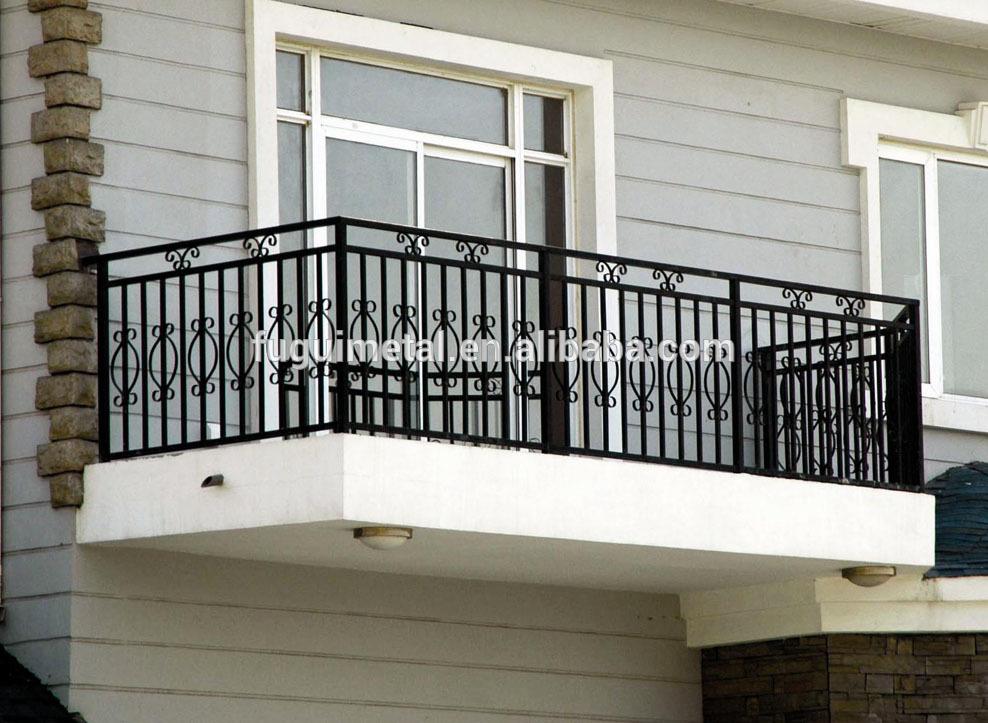 elegant wrought iron balcony railing design