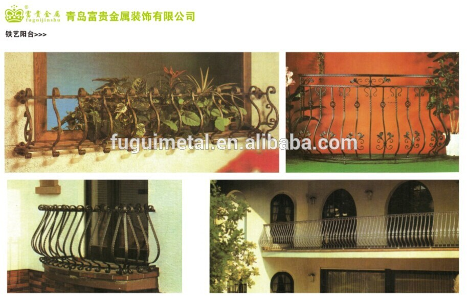 Elegant wrought iron balcony railing design buy balcony railing desing product on - Wrought iron indoor decor classy elegance ...