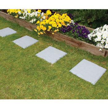 30cm stone effect garden plastic slabs