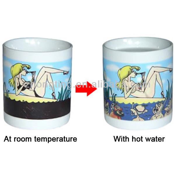 Hot sale creative magic cup dye blank sublimation mugs wholesale