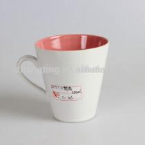 Alibaba china wholesale cheap v shaped coffee mugs