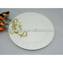wholesale ceramic plates with flower decal