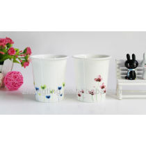 Flower Printed Ceramic Cups Mini Cups High Quality Cups with Rubber Lids