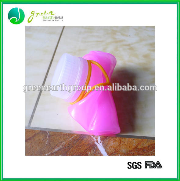 Hot Sale Popular Colorful silicone collapsible filter water bottle