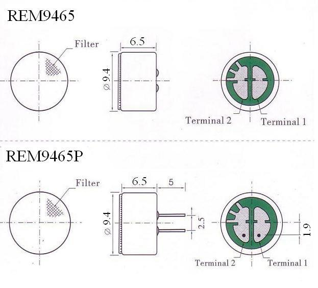 9.4x6.5mm REM9465 &amp; REM9465P Omnidirectio<em></em>nal Co<em></em>ndenser Microphone