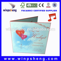 Hot Musical Wedding Card With Musical Instrument