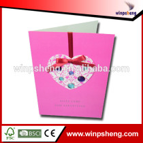 2015 Hot Products Handmade Wedding Greeting Cards