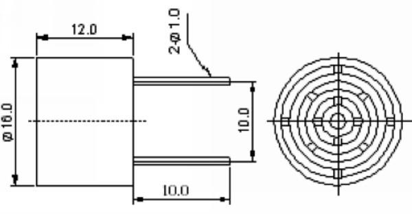 16mm,25khz ultrasonic piezo sensors for ultrasonic animal