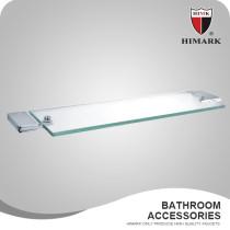 HIMARK square brass bathroom glass shelf