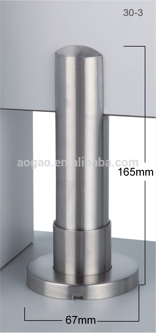 Aogao 30 3 stainless steel 304 toilet partition adjustable for Bathroom divider hardware