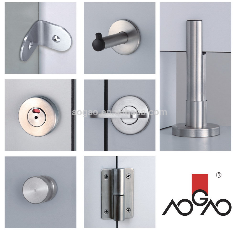 Aogao 26 series stainless steel 304 toilet stall hardware