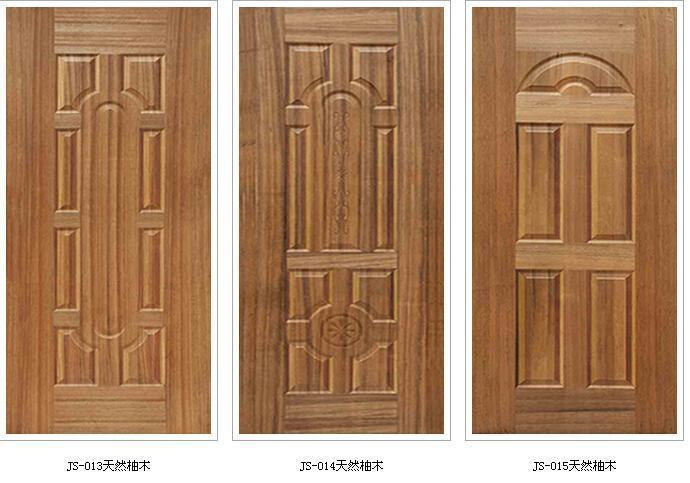 3mmx600,740,920x2150 natural teak wood veneered face Door skin designs