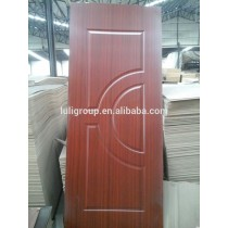 melamine HDF door skin /veneer mdf door skin for iran market from china luli group / door skin manufacturer /factory