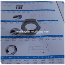 304 Cast Investment Hex Nuts 3/4