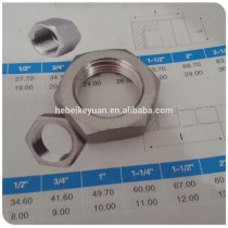 Stainless Steel BSP Screwed Pipe Fitting Hex Backnut 3/4