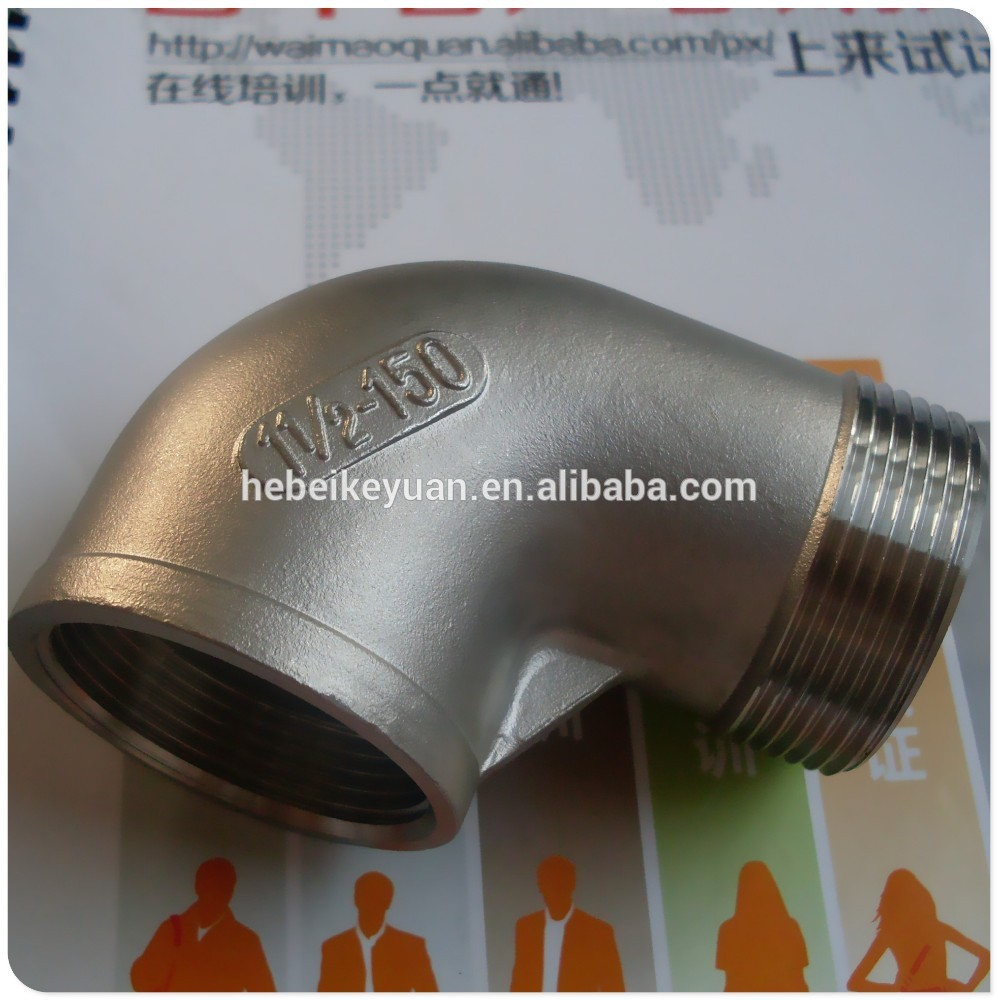 Stainless steel street elbow deg quot in pipe fitting